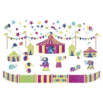 JoJo Maman Bebe Wall Stickers, Elephant Circus Part 36