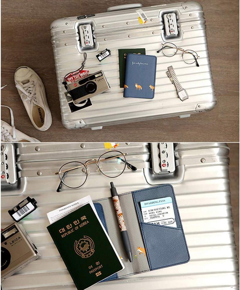 Toruiwa de Billets de Monnaie de Cartes 14 * 10cm Etui /à Passeport Prot/ège Passeport Organisateur de Voyage avec 5 Compatriment en Cuir PU pour Porte Passeport