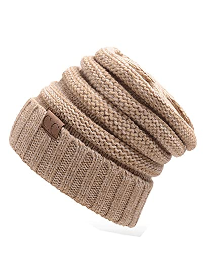 2ae8827234221 Image Unavailable. Image not available for. Color  Sexyangels Winter Trendy  Warm Oversized Chunky Soft Oversized Cable Knit Slouchy Beanie ...