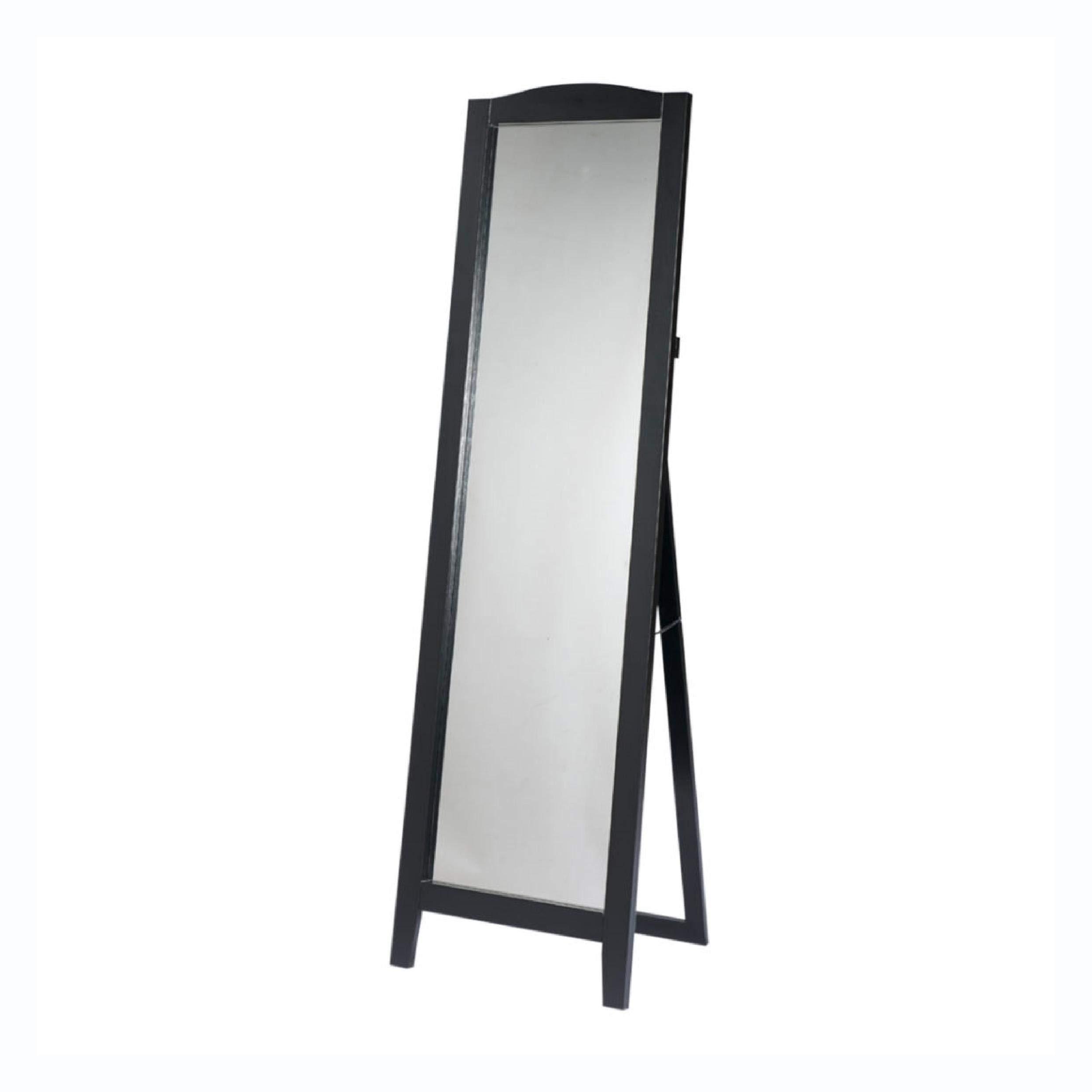 Functional Classic Full Length Leaning Floor Mirror with Black Frame, Functional Classic Full Length Leaning Floor Mirror with Black Frame by HEATAPPLY