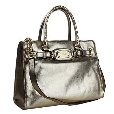 5a583030c030ea Michael Kors Whipped Hamilton Tote Bag Michael Kors Hamilton Rock Roll  Large EW Tote - Pale Gold ...