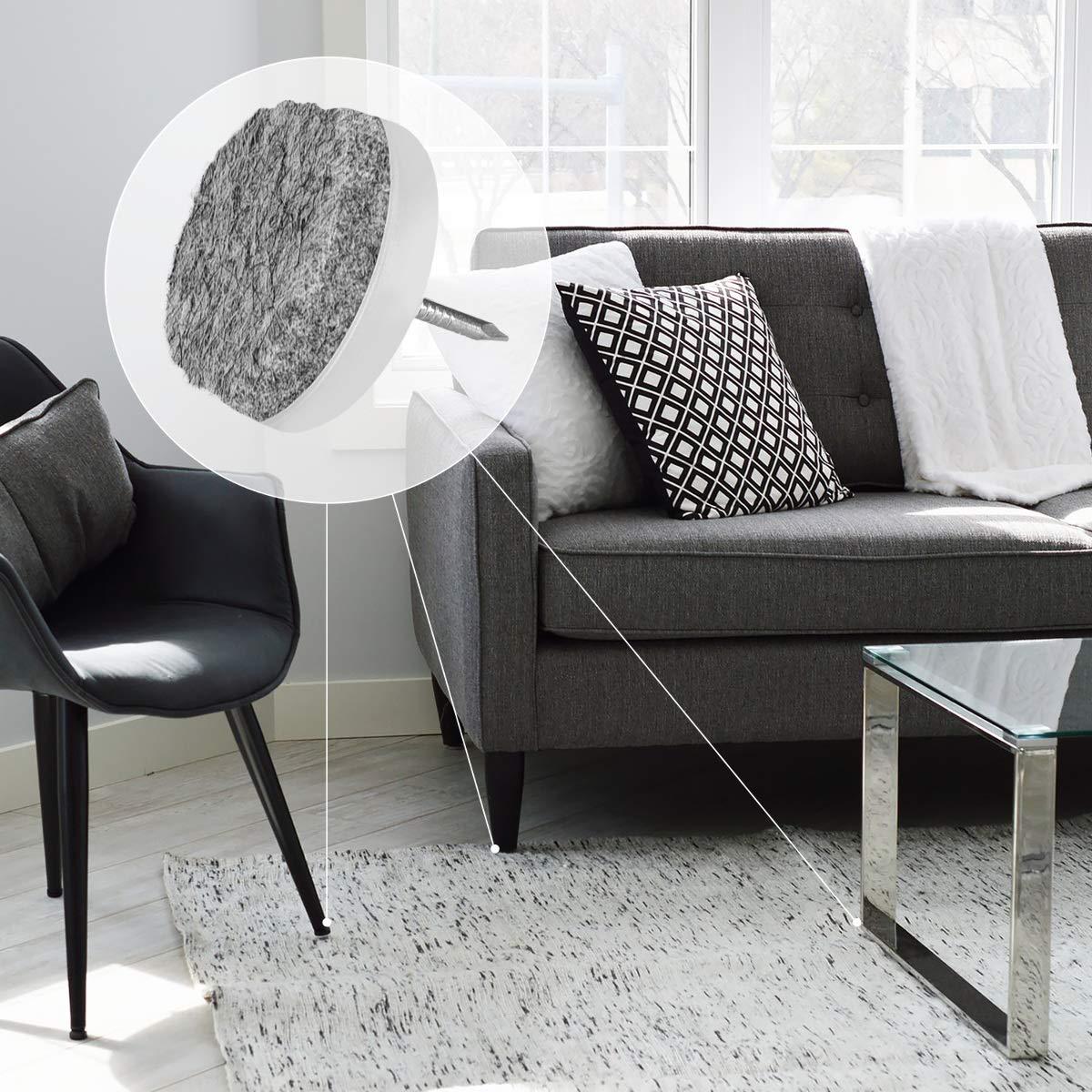 Tacos estilo alfiler para sillas y muebles Navaris pack 20 almohadillas de fieltro para sillas Redondos de 28MM Amortiguador para muebles