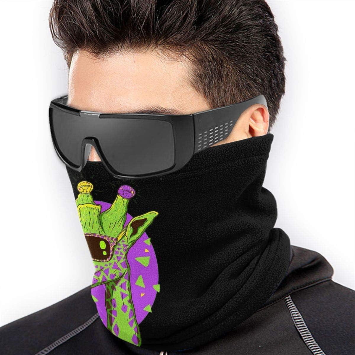 Funny Giraffeo Microfiber Neck Warmer Balaclavas Soft Fleece Headwear Face Scarf Mask For Winter