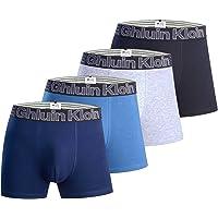 Calzoncillos bóxer para Hombre Ropa Interior con algodón Premium - Frente Grande en Y - Paquete de 4 Multicolores…