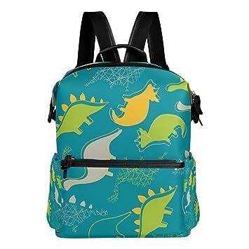 FANTAZIO Mochilas Dinosaurios Mochila Escolar Poliéster Daypack con Cremallera para Niñas/Mujeres/Mujeres, Color 6, tamaño Talla única: Amazon.es: Deportes ...