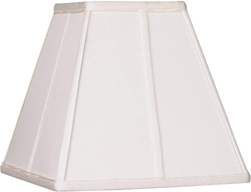 Ivory Classic Square Shade 5.25x10x9 Spider – Springcrest