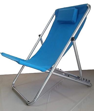 Depolife Plaj Sandalye Koltuk şelong Katlanır Yastıklı 5 Kademeli