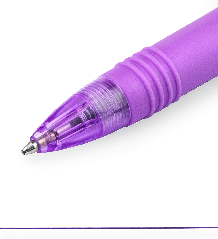 Blue Pack of 3 Funky Flame Stripe Barrel Zebra Z-Grip Smooth Ballpoint Pen Pink 1 of Each Violet 1.0mm