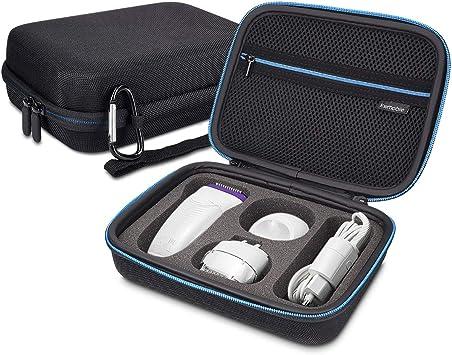 kwmobile Funda compatible con Braun Silk épil 9 - Con compartimiento para cable de carga - Estuche para máquina depiladora - En negro: Amazon.es: Salud y cuidado personal