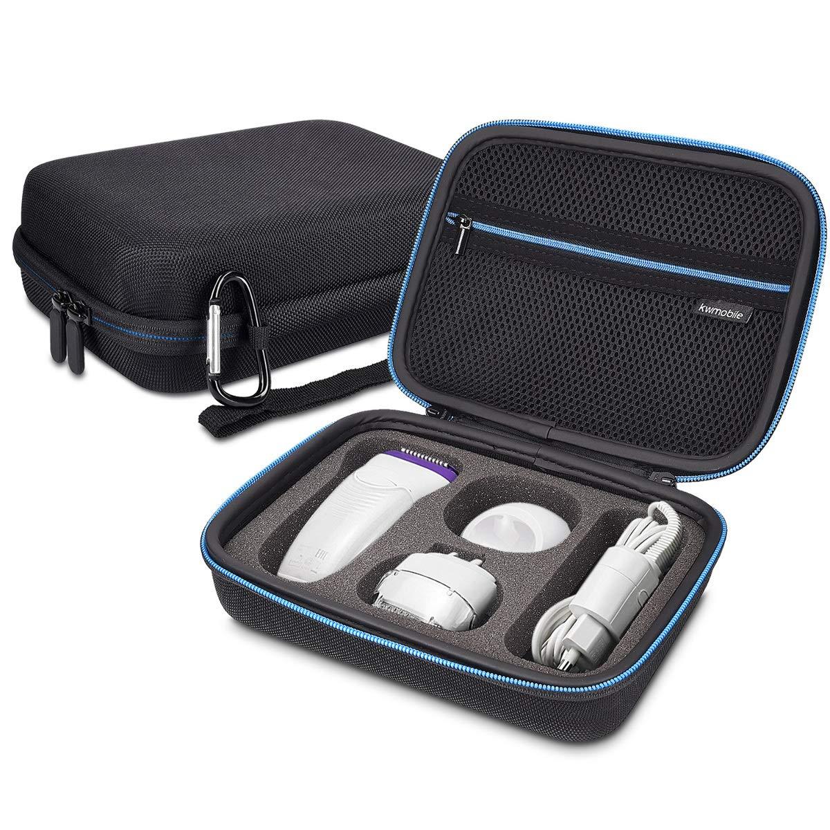 kwmobile custodia per Braun Silk-é pil - astuccio rigido per epilatore testine spazzole viso alimentatore e accessori - borsa da viaggio nero KW-Commerce 44022_m000765