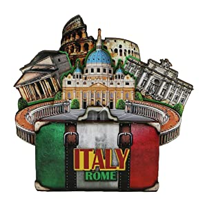 City-Souvenirs Rome Italian Magnet 4 Inch 3D Italy Magnet with Landmarks