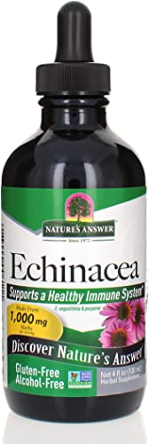 Nature s Answer Echinacea 4 oz. Supports a Healthy Immune System Non-GMO Alcohol-Free, Gluten-Free, Vegan, Kosher Certified No Preservatives 4 fl oz