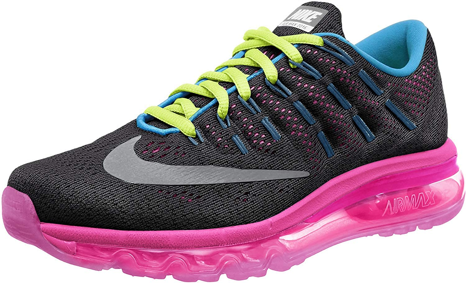 black and pink air max 2016