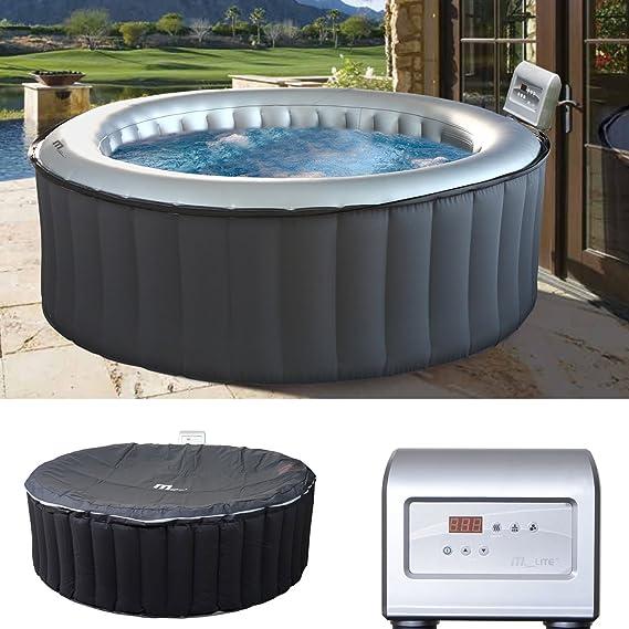 Mendler Whirlpool MSpa HWC A62, 6 Personen In /Outdoor Heizbar Aufblasbar Ø  204cm FI Schalter: Amazon.de: Garten
