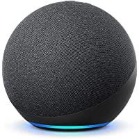 Nuevo Echo (4.ª generación) | Sonido de alta calidad, controlador de Hogar digital integrado y Alexa | Antracita