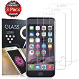 iPhone 6/7/8 Screen Protector,Live2Pedal Tempered Glass Screen Protector 3D Touch [3 PACK] [clear] [Case-friendly] for Apple iPhone 8, 7, 6S and 6.Clear
