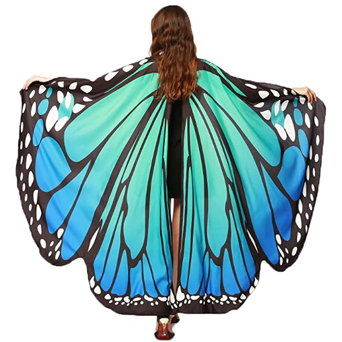Roaring 20s Costumes- Cheap Flapper Dresses, Gangster Costumes Halloween/Party Prop Soft Fabric Butterfly Wings Shawl Fairy Ladies Nymph Pixie Costume Accessory $7.99 AT vintagedancer.com
