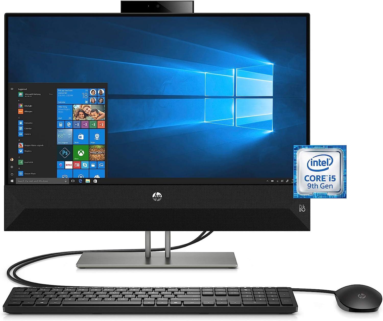 HP 4NN56AA#ABA Pavilion 24-Inch All-in-One Computer, Intel Core i5-9400T, 12 GB RAM, 512 GB Solid State Drive, Windows 10 (24-Xa0032, Black)