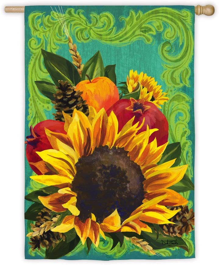"""Fall Floral Garden Flag Size: 43"""" H x 29"""" W"""