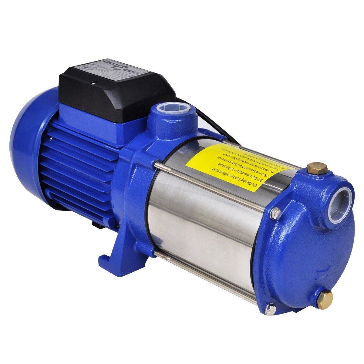 vidaXL Bomba inyectora azú l, 1300 W, 5100 L/h