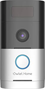 Owlet Home | WiFi Smart Video Doorbell, 1080p, Advanced Motion Detection, Real 2-Way Audio, Color Night Vision, 180° Wide Angle, Voice Message, AI Enabled,Pre-installed 32G SD Card,No Monthly Fee