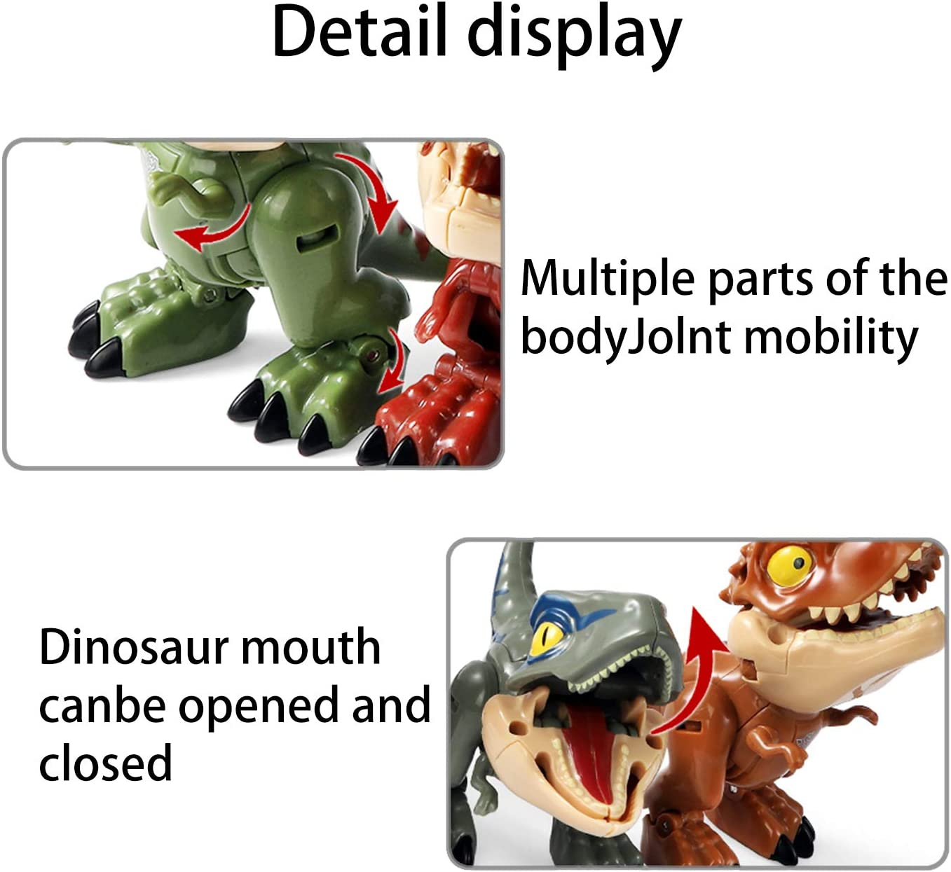 Weelth Funny for Deformation Dinosaur Small Toy for Kids Carnotaurus//Brownish red