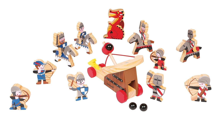 Spielzeug Drachenburg - Janod Spieleset Ritter und Drachen