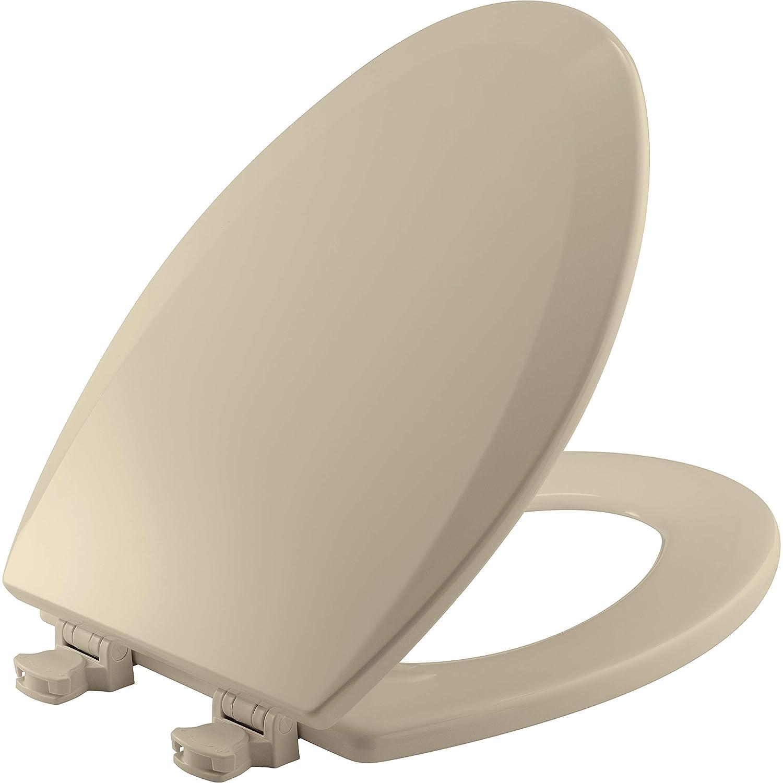 Fabulous Bemis 1500Ec 006 Toilet Seat With Easy Clean Change Hinges Elongated Durable Enameled Wood Bone Machost Co Dining Chair Design Ideas Machostcouk