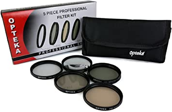 PL Opteka 37mm Hi-Def Professional Video Filter Kit UV FLD