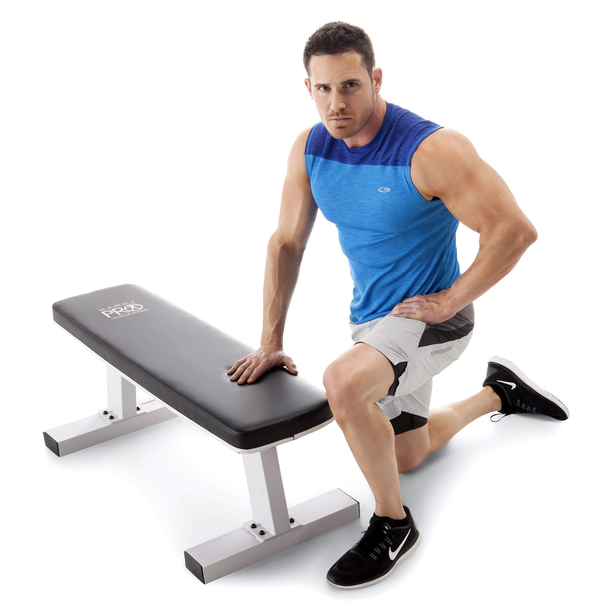 Marcy Home Gym Exercise Fitness Training Workout Flat Board Weight Lifting Bench
