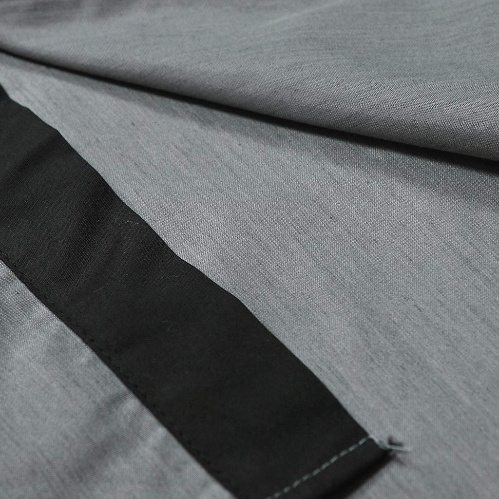 Yajiemen Men Shirt Fashion Solid Color Male Casual Short Sleeve Shirt