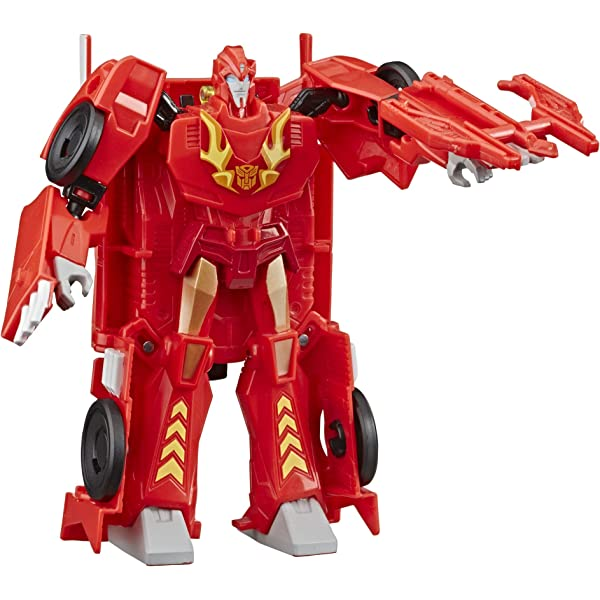 Transformers Cyberverse Action Attackers Warrior Class Hot Rod Action Figure Toy Hasbro E3638AS00