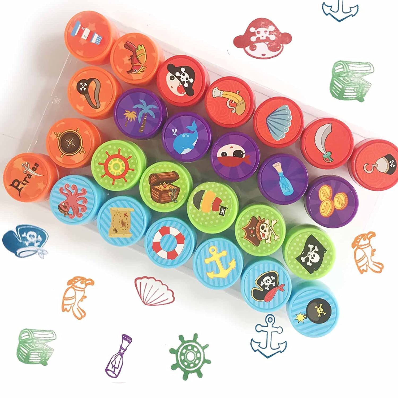 Bestele 24 Colori Lavabili Per Timbri per Bambini, Impronte Digitali Rainbow Color Craft Pastiglie di Inchiostro Per Timbri di Gomma Partner di Biglietti e Bambini DIY Scrapbooking 24 Colours Stamp Pads