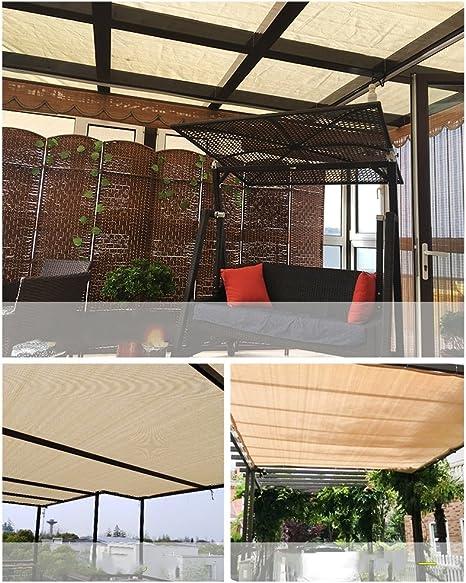 Toldos Duo Beige 90% Tela de Sombra Paño de Sombra Solar con Ojales para Cubierta de pérgola Canopy (Tamaño : 5×6M): Amazon.es: Jardín