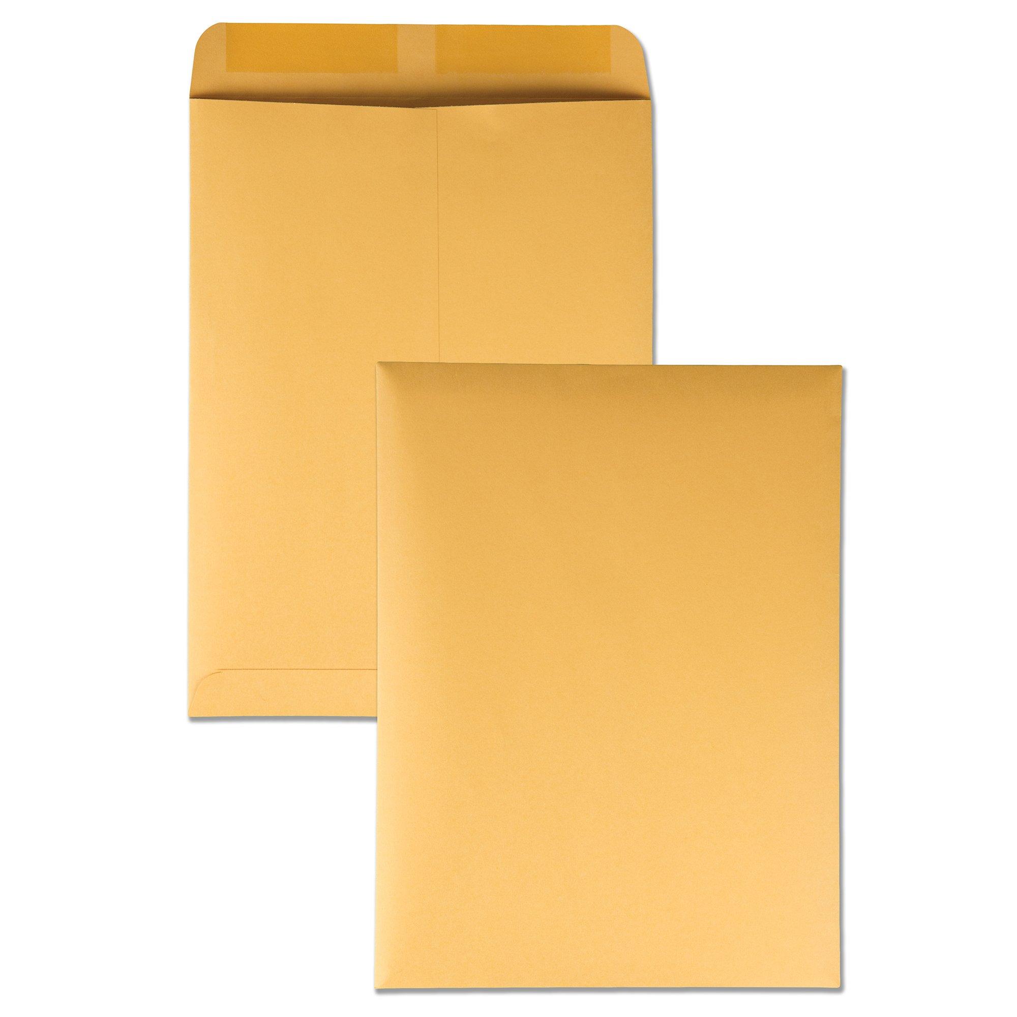 Quality Park 41665 Quality Park Catalog Envelopes, Heavyweight/Gummed, 10x13, 28lb, Kraft, 250/Box