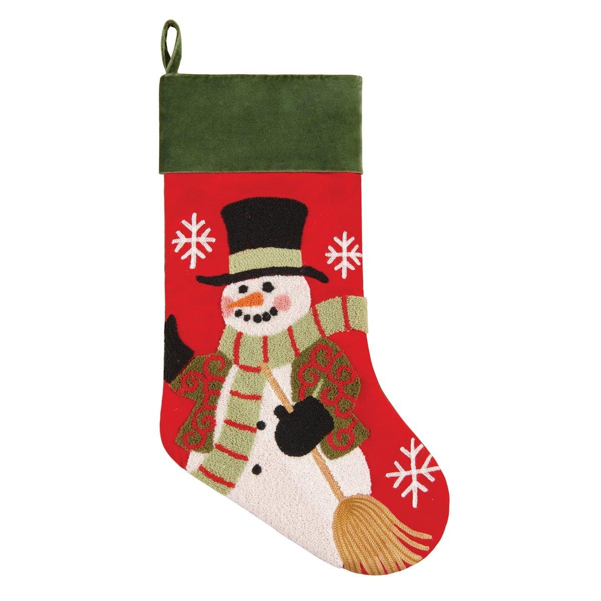 C&F Home Snowman Christmas Tufted Stocking Multi