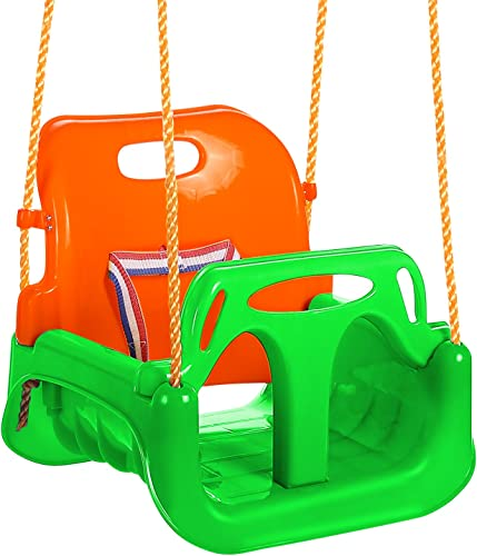 ANCHEER 3-in-1 Toddler Swing Seat Infants to Teens, Detachable Outdoor Toddlers Children Hanging Seat Green