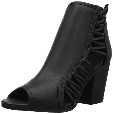 262037be4510 Rampage Women s Viva Open Peep Toe Cutout Block Heel Bootie Ankle Boot