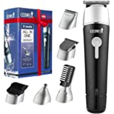 CEENWES Updated Version 5 in 1 Waterproof Man's Grooming Kit Hair Clippers Professional Hair Cutting Tools Beard Trimmer…