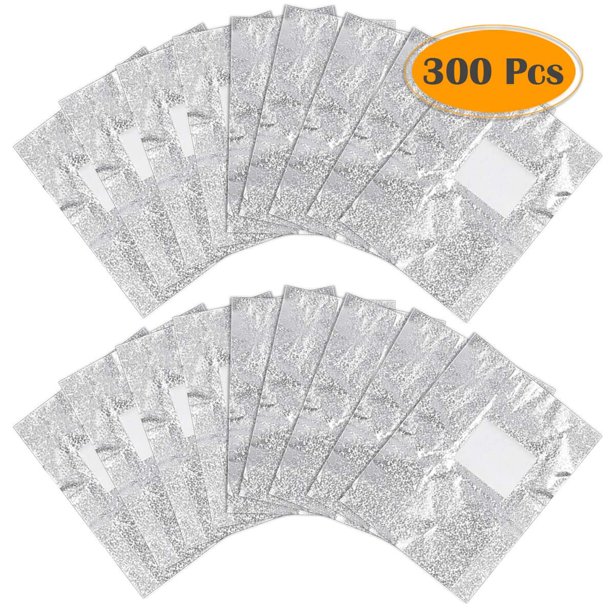 Anezus 300pcs Gel Nail Polish Remover Glitter Soak Off Foil Nail Wraps with Cotton Pad for Gel Removal by anezus