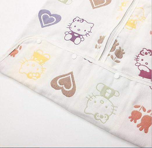 Saco de dormir para bebé manga larga - Garcon - niña pijama niño todas las estaciones Confort combinación de patas Six pañales de gasa & # xFF08; ...