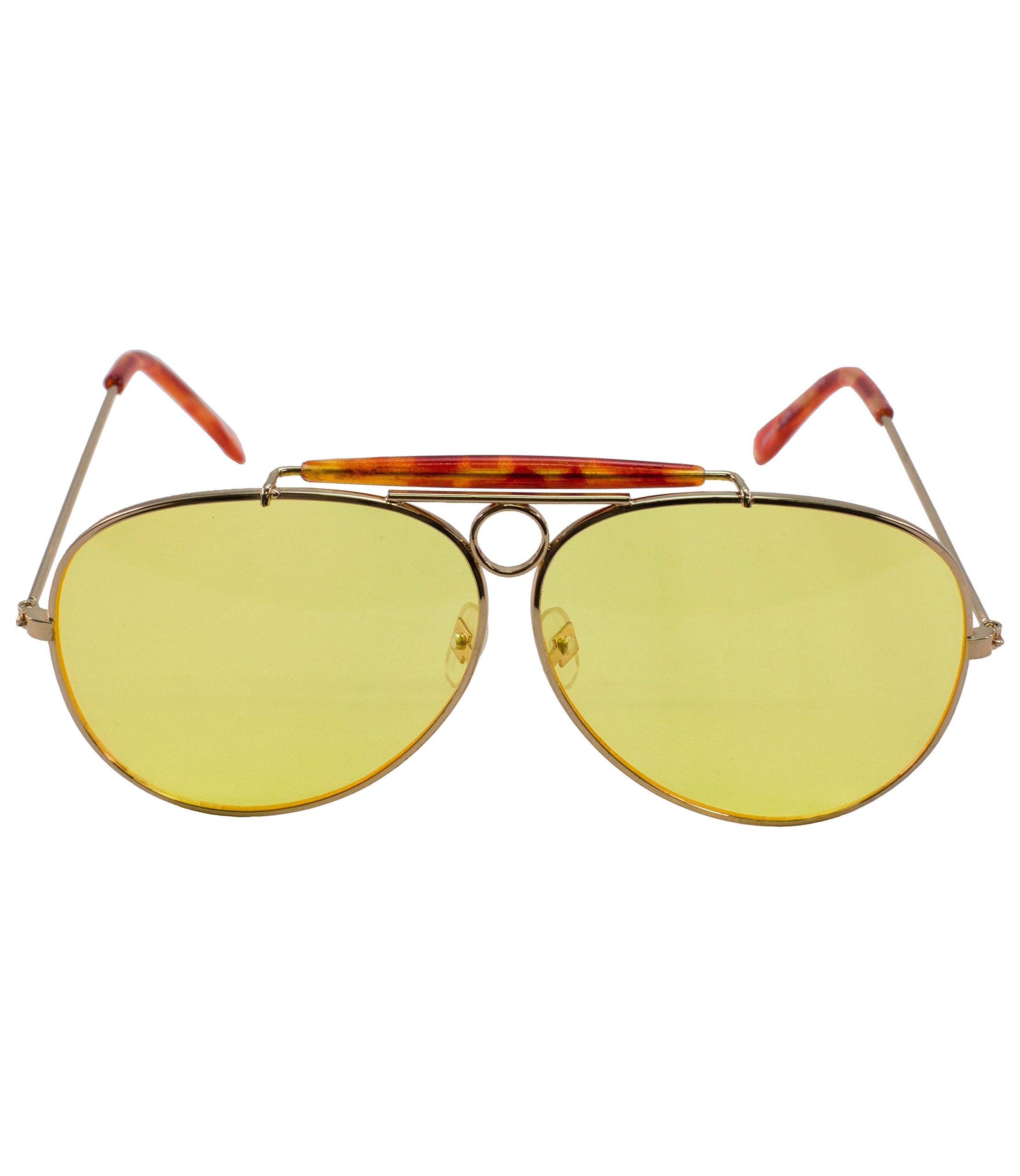 elope Yellow Aviator Sunglasses