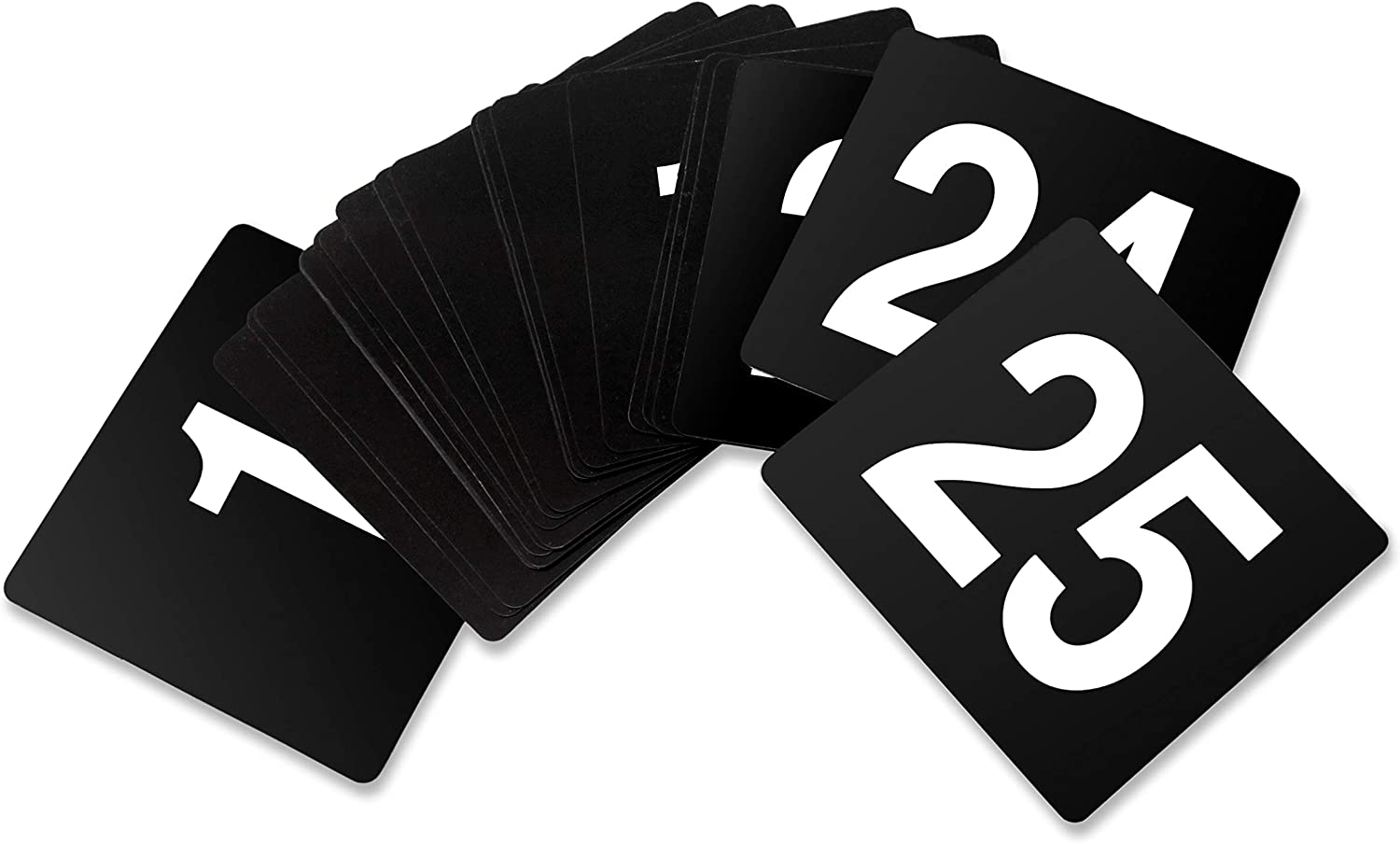 New Star Foodservice 23145 Double Side Plastic Table Numbers, 1 to 25,  4