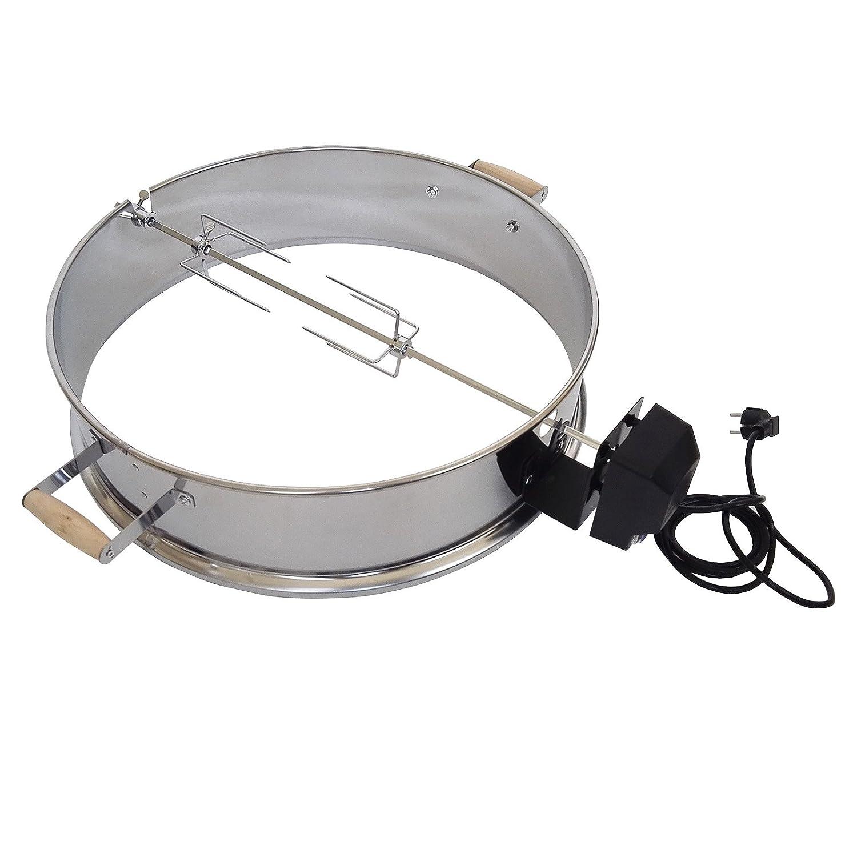 Wiltec Elektrischer Grillspieß Ø 57cm x H 15cm Drehspieß Aufsatz für KugelGrill