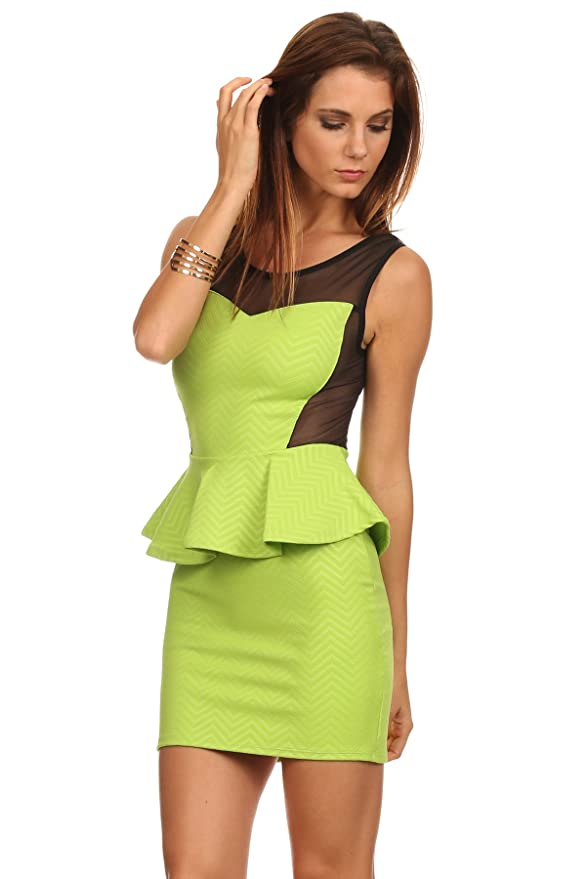 Yellow peplum dress amazon