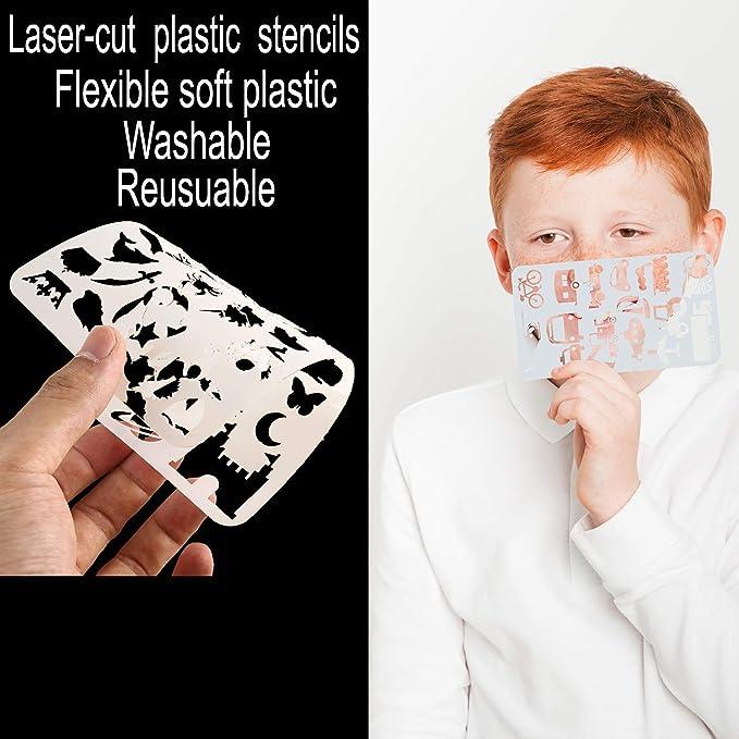 Amazon.com: Set de 20 plantillas de plástico para cuaderno ...