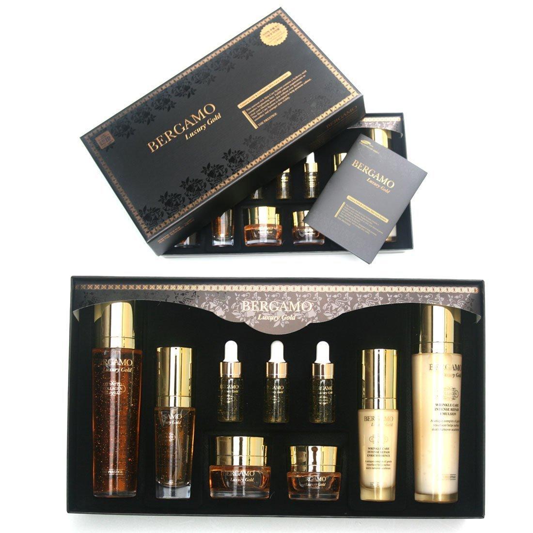 Bergamo Bergamo luxury gold collagen 9-piece gift for set all skin type, 9 Count