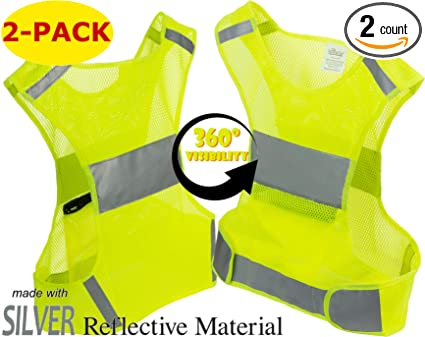 Amazon.com   Reflective Vest for Running or Cycling (2-Pack ... 76af18ff8