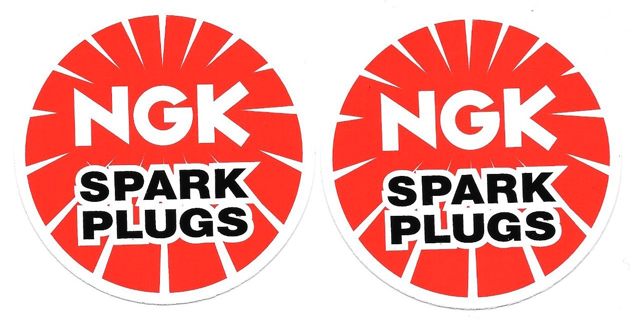 Amazon com ngk spark plugs racing decals stickers 3 inch circle size set of 2 automotive