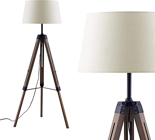 Ambiore Wood Tripod Floor Lamp